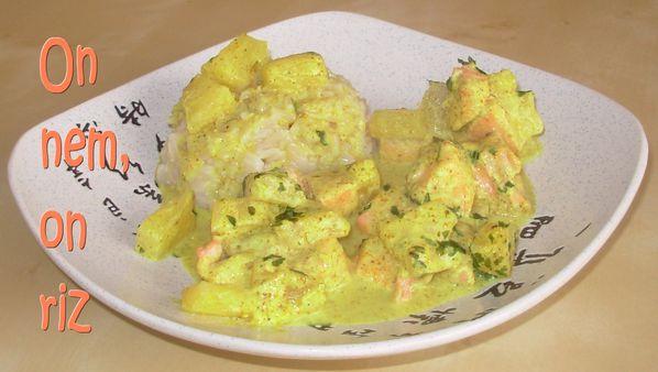 Curry de truite à l'ananas1