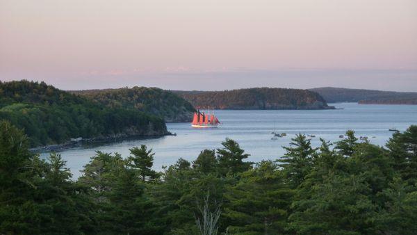 Bar Harbor vue de la chambre bateau