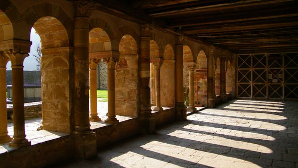 041 Cloître, L'abbatiale Sainte-Foy, Conques