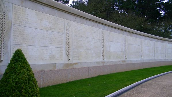 307 Wall of the Missing, American Cemetery at Omaha Beach,