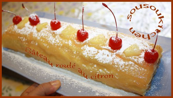 Gateau roul au citron