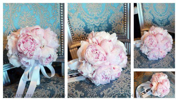 Bouquet mariée pivoines
