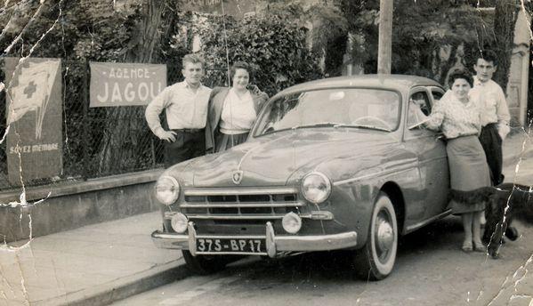p A gauche Guy et J Pezac 1956 peu de temps après leur mar