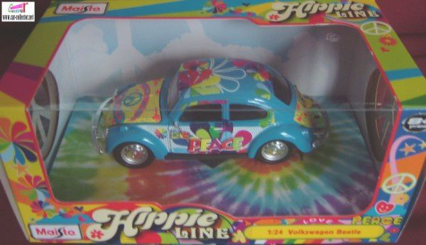 vw cox hippies love and peace maisto babacool (4)