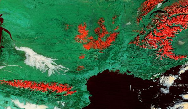 Terra - MODIS - Anticyclone - Neige - 08-12-2013 - 367