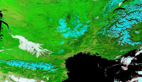 Terra - MODIS - Anticyclone - Neige - 08-12-2013 - 721