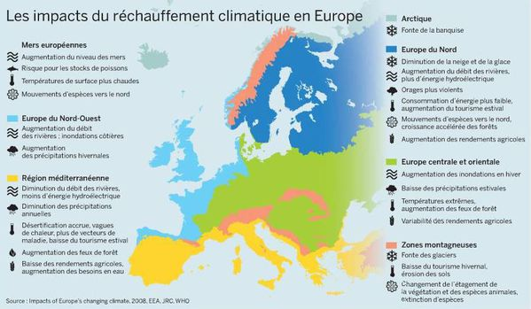 Impacts du réchauff. clim. en Europe-EEA-2008