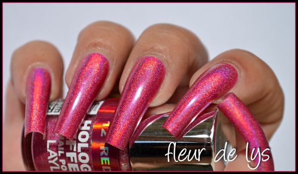 Vernis holographique framboise