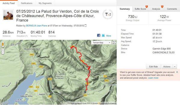 VTT - Col de la Croix de Châteauneuf 250712