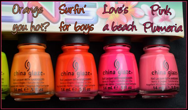 China Glaze Summer neons2