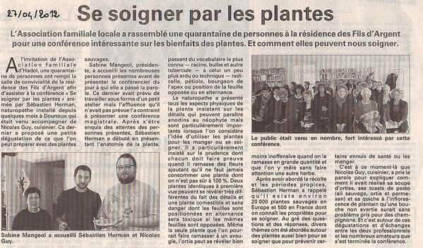 article hadol conference sur les plantes