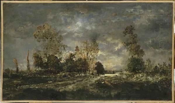 Route-dans-la-for-t-de-Fontainebleau rousseau