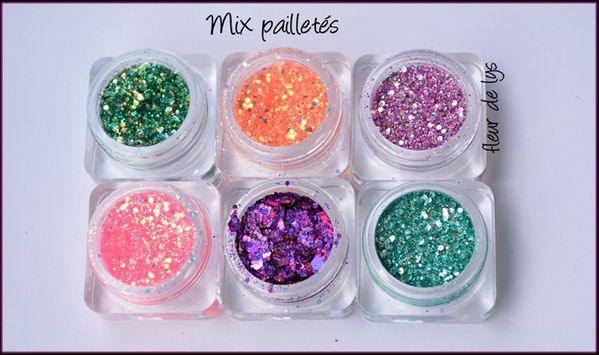 Mix pailletés Nail Art