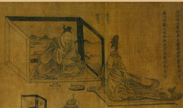 Gu Kaizhi. conseil à une femme avisée détail (3)