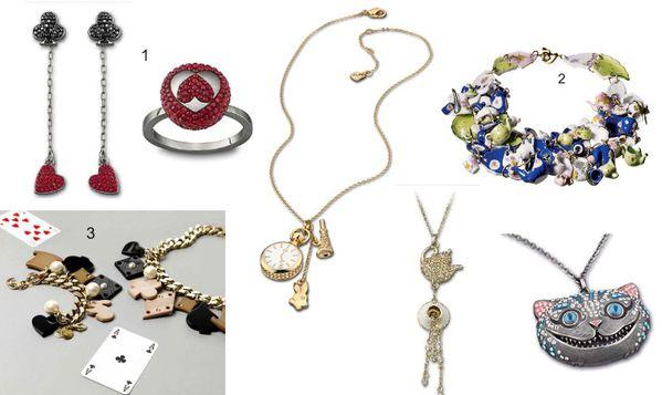 bijoux créateurs alice au pays des merveilles Swarovski st