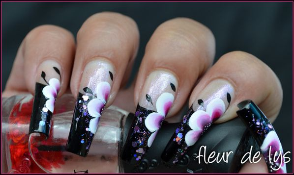 Nail Art french noire
