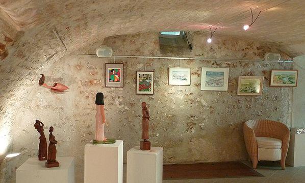 Sculptures de Bruna Albarello, aquarelles de Jean Michel Kollar et Colette Ganneau