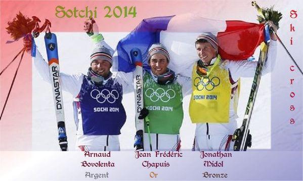 Sotchi 2014 le triplé francais en ski cross ens