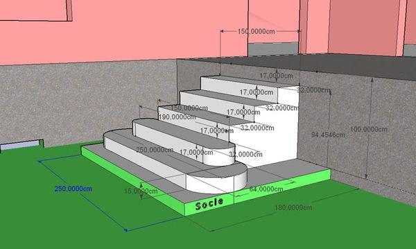 Construction DUn Escalier En Bton  Btir Sa Maison  Moindre Cot