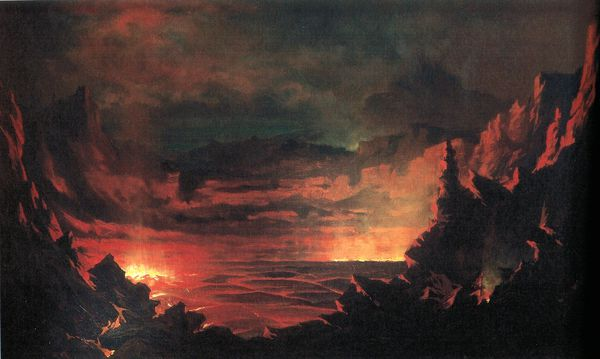 Jules Tavernier - 'Kilauea Caldera', oil on canvas, 1885