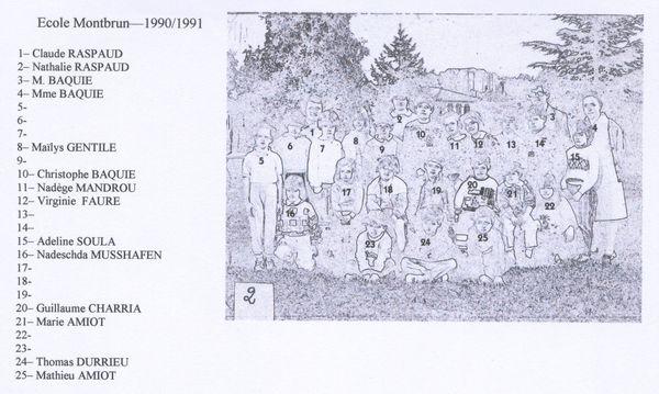 1990-1991 nom m. mme. bauqie