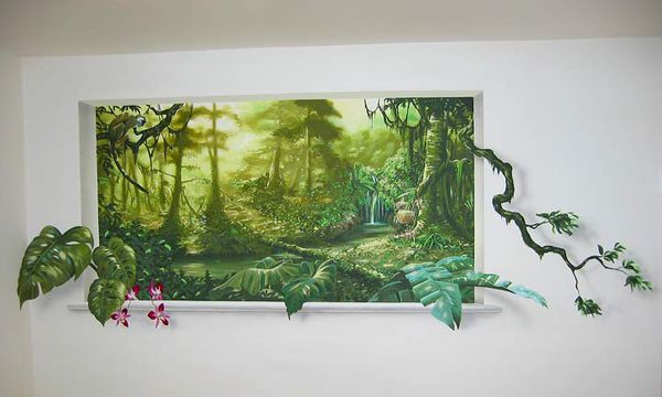 Trompe l 39 oeil jungle le blog de lyll for Trompe l oeil interieur