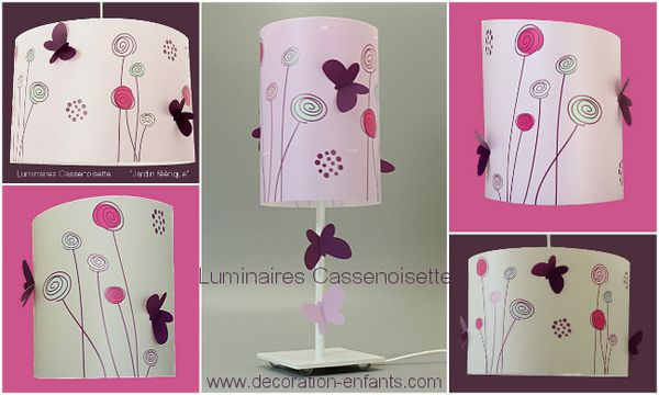 luminaires fille aux couleurs tendances luminaire enfant. Black Bedroom Furniture Sets. Home Design Ideas