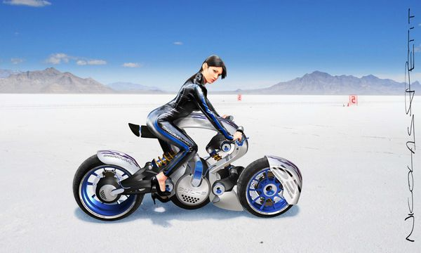 speed record Bonneville salt flats pilot peak pin up 2010