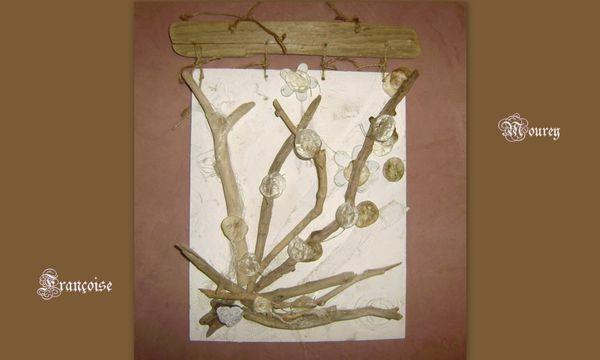 Bouquet de bois flott sur cadre nature creation for Bouquet bois flotte