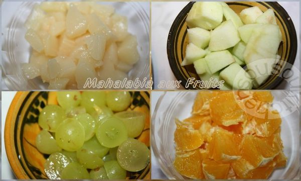 Mahalabia aux Fruits مهلبية بالفواكه
