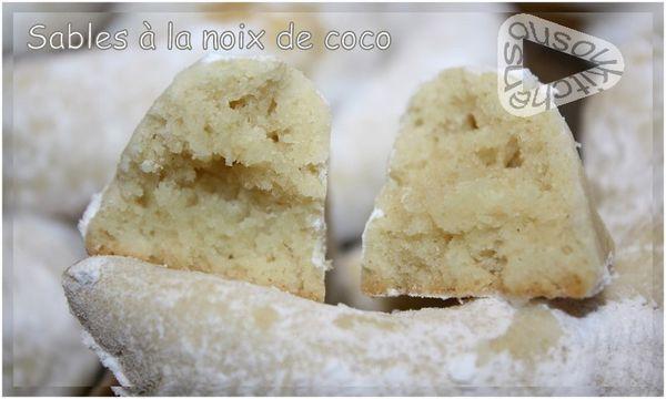 Sablés à la noix de coco