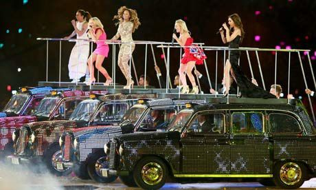 Spice Girls London Cabs Olympics closing ceremony