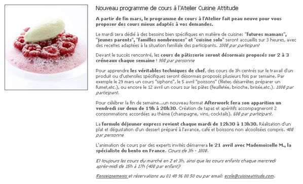 newsletter cyril lignac focus