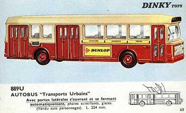 catalogue dinky toys 1966 p63 autobus transports urbains