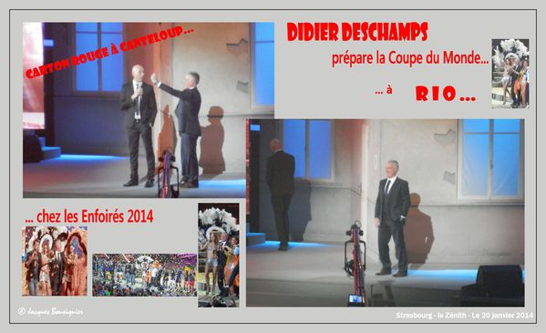 Didier Deschamps Enfoires 2014 Strasbourg