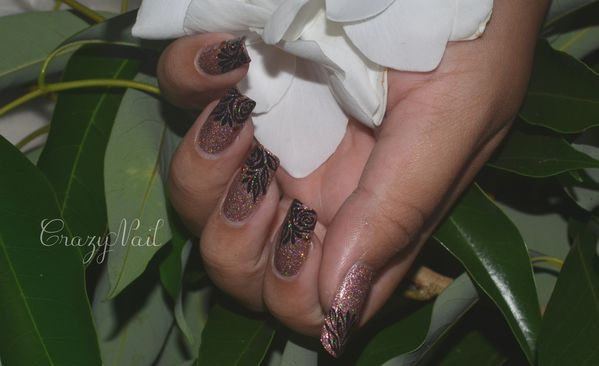 rose holographique-nails papillons (4)