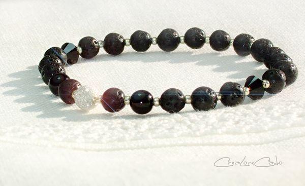 bracelet-pierres-lave-noir-argent-925-boule-diamantee-Lore-