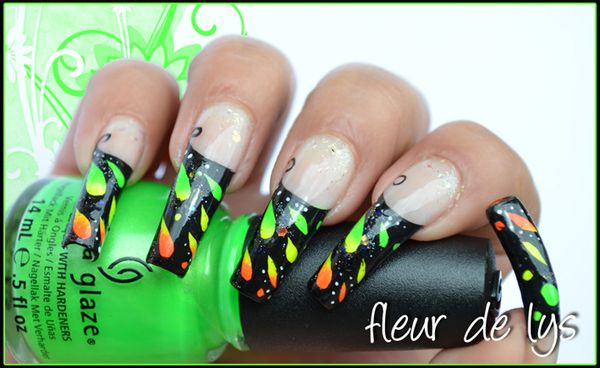 Nail Art Acrylic design