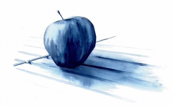 Pomme sur table de campingblog