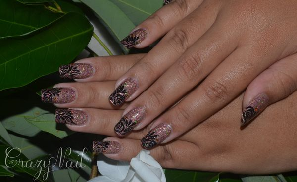 rose holographique-nails papillons (3)