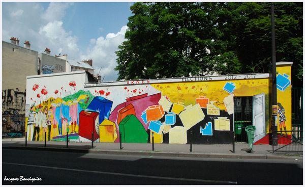 Paris rue menilmontant street art