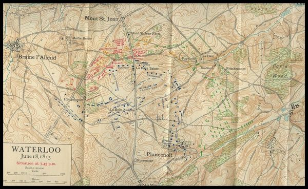 056Carte ancienne de Waterloo 19h45