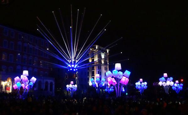 Fête des Lumières 2012 place Louis Pradel