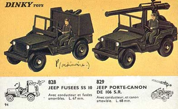 catalogue dinky toys 1966 p94 jeep fusees jeep porte canon