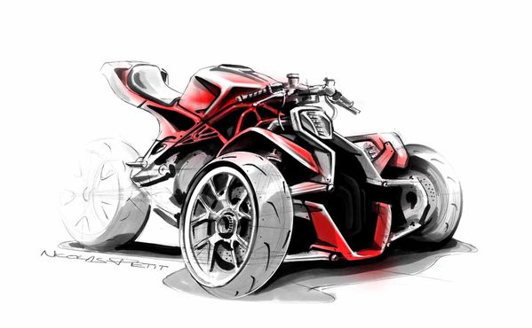 3 wheels concept ducati perspective rough 2