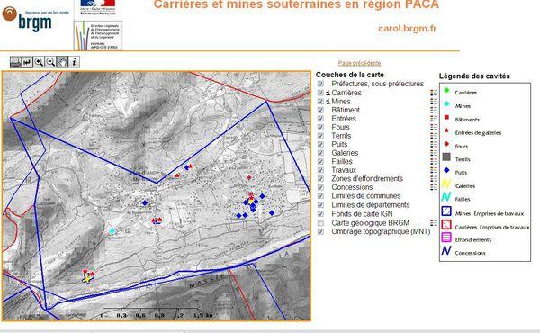 Carte mines Plan d'Aups