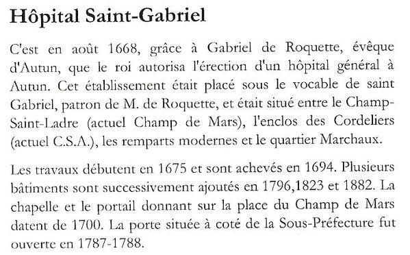 Hôptiat Saint-Gabriel.