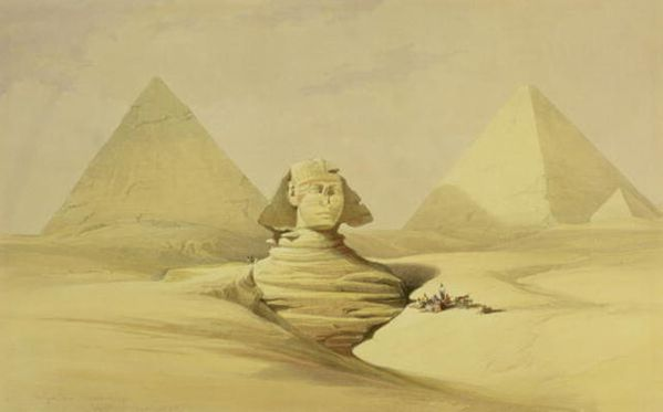 the great sphinx and the pyram hi