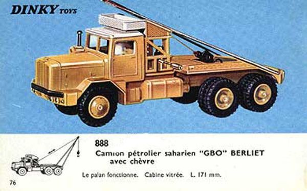 camion p trolier saharien gbo berliet dinky toys avec ch vre berliet all. Black Bedroom Furniture Sets. Home Design Ideas