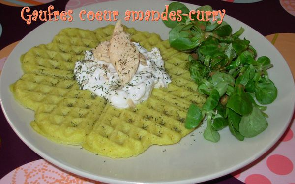 Gaufres amandes-curry au saumon2